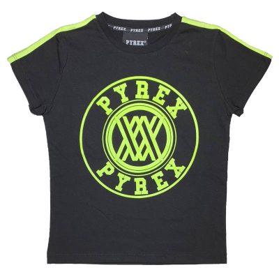 T-shirt nera pyrex kids