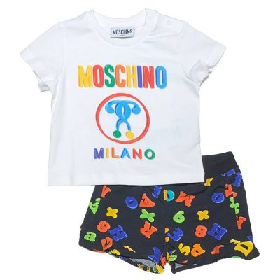 Completo lettere moschino baby