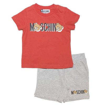 Completo rosso moschino baby