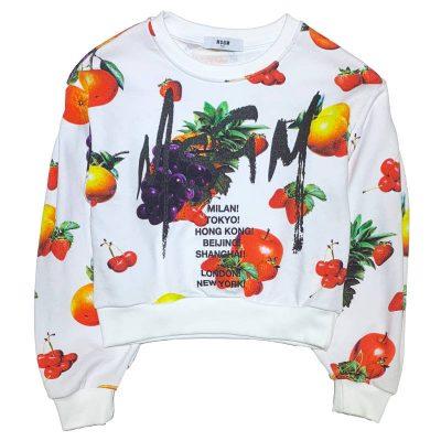 Felpa frutta msgm kids