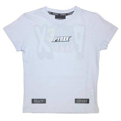 T-shirt bianca pyrex kids