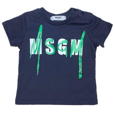 T-shirt blu msgm baby
