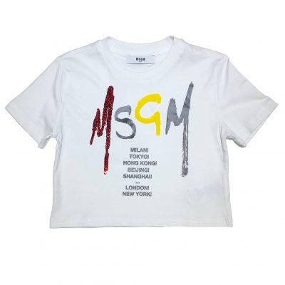 T-shirt corta msgm bambina