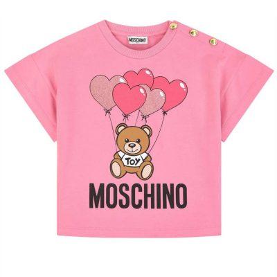 T-shirt cuori moschino bambina