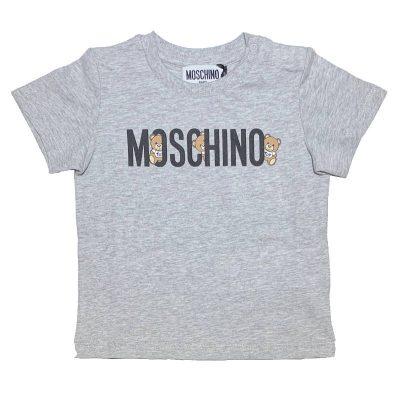T-shirt grigia moschino baby