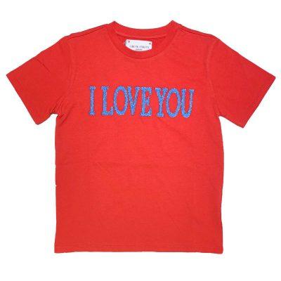 T-shirt rossa alberta ferretti bambina