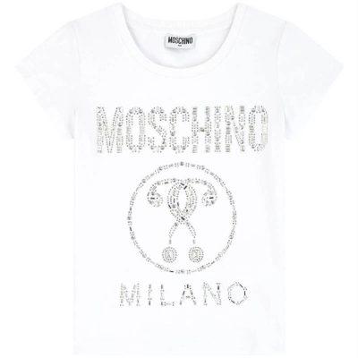 T-shirt strass moschino bambina