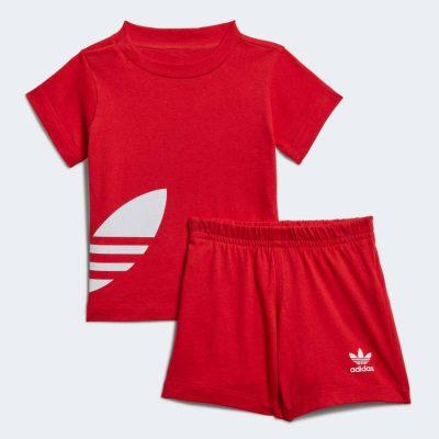 Completo rosso adidas neonato