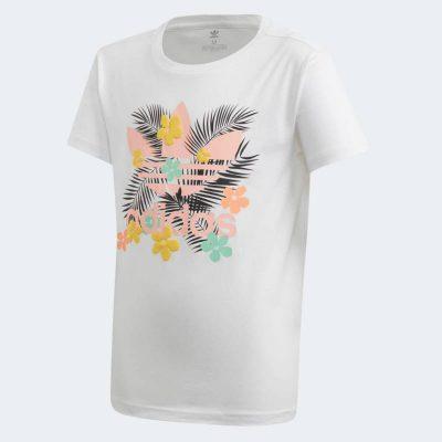 T-shirt fiori adidas bambina