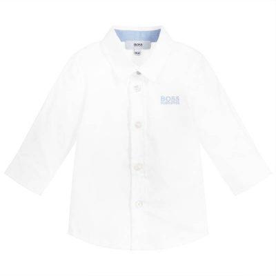 Camicia bianca boss neonato
