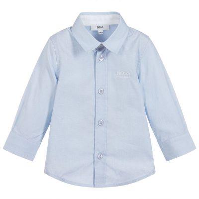 Camicia celeste Boss neonato