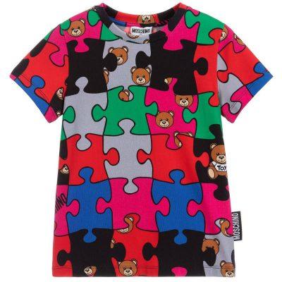 Vestito puzzle moschino baby
