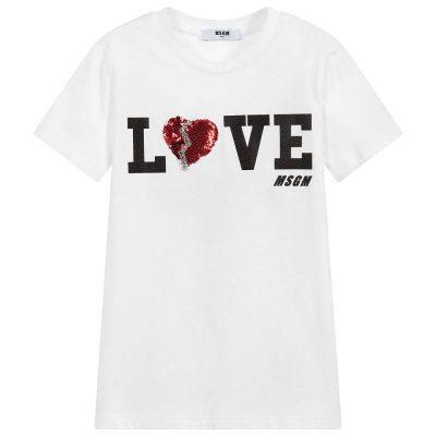 T-shirt cuore msgm bambina