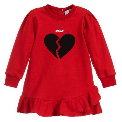 Vestito cuore neonata msgm