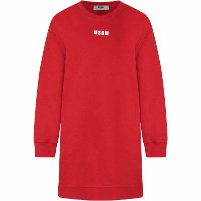 Vestito rosso msgm bambina