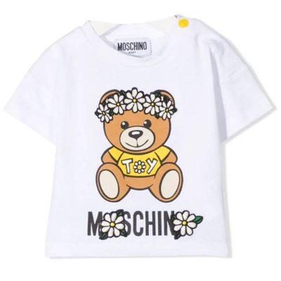T-shirt margherite moschino baby