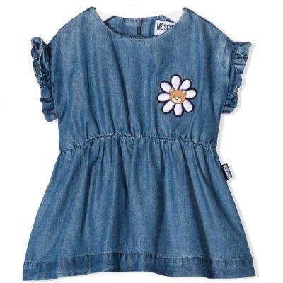Vestito jeans moschino neonata