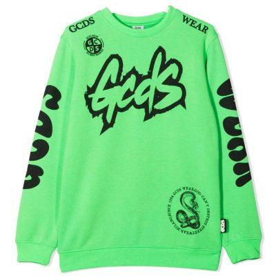 Felpa verde bambino gcds