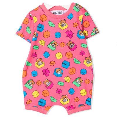 Pagliaccetto rosa moschino neonata