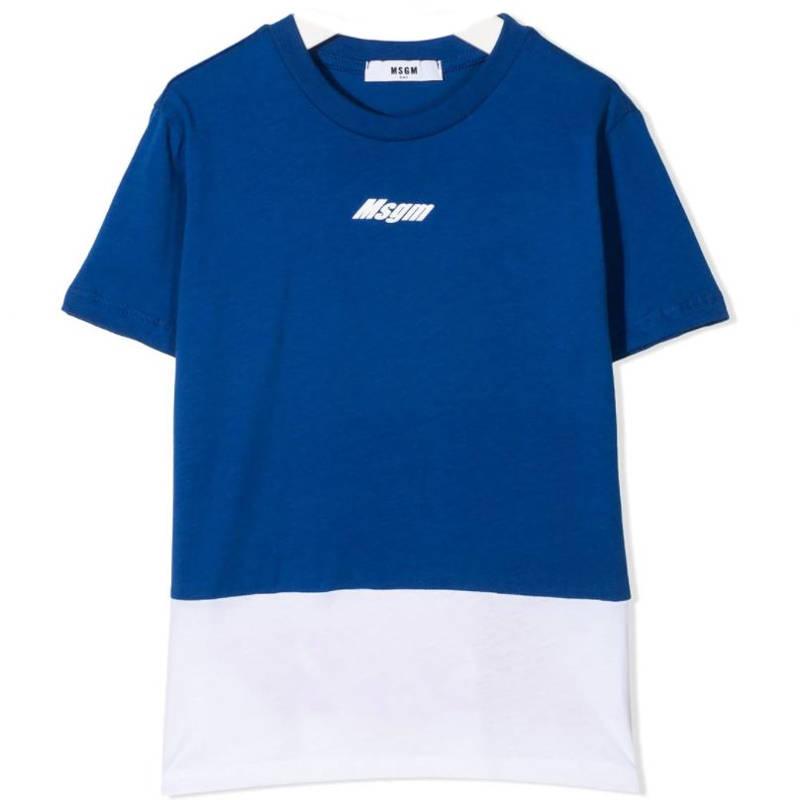T-shirt azzurra msgm bambino