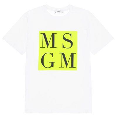 T-shirt bianca msgm bambino