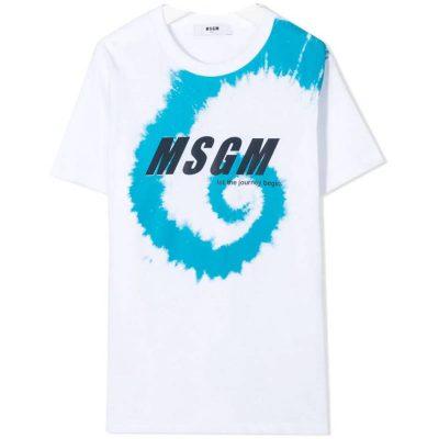 T-shirt bianca msgm kids