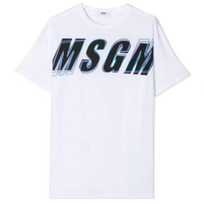 T-shirt logo msgm bambino