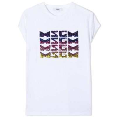 T-shirt paillettes msgm bambina