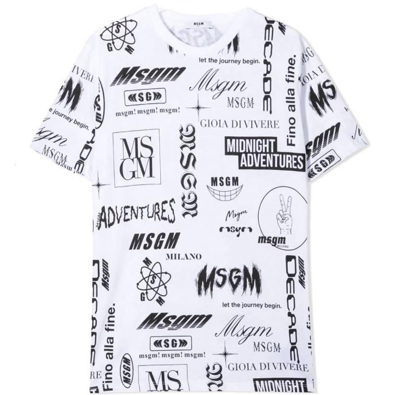 T-shirt scritte msgm bambino
