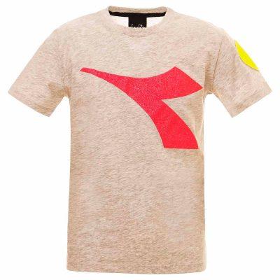 T-shirt grigia diadora bambina