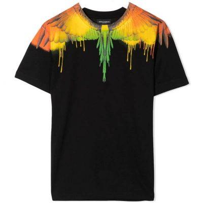 T-shirt nera marcelo burlon kids