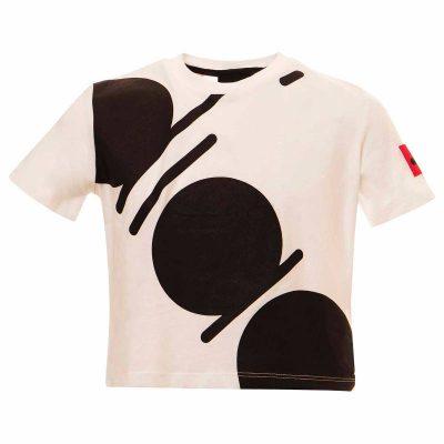 T-shirt bianca corta diadora bambina