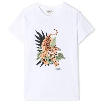 T-shirt bianca kenzo kids