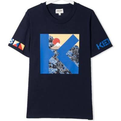 T-shirt blu kenzo kids