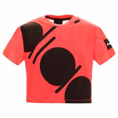 T-shirt fucsia diadora bambina