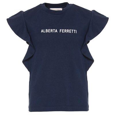 T-shirt rouches alberta ferretti bambina
