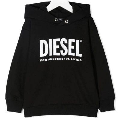 Felpa nera diesel kids