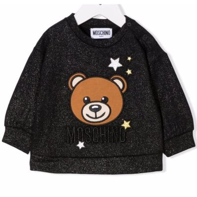 Felpa stelle moschino neonata