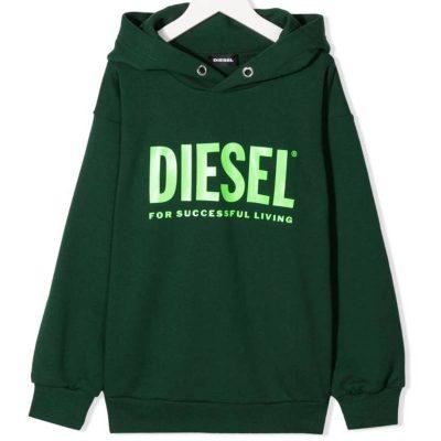 Felpa verde diesel bambino