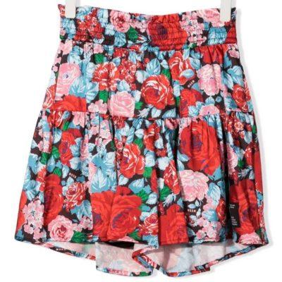 Short fiori msgm bambina