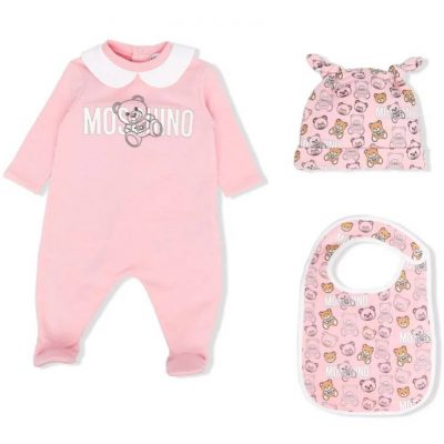 Tutina rosa moschino neonata